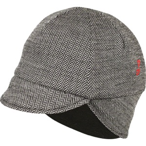 Pace Merino Wool Reversible Cycling Cap - Herringbone/Black