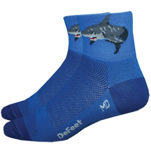 "DeFeet AirEator 3"" Shark Attack! Socks - Blue"