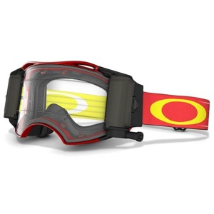 Oakley Airbrake MX Race Ready Roll-Off Goggles - Red-White Retro Speed/Clear