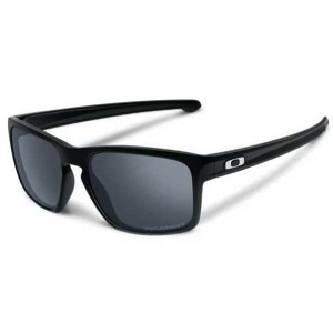 Oakley Sliver Sunglasses - Polished Black/Black Iridium Polarized Lens