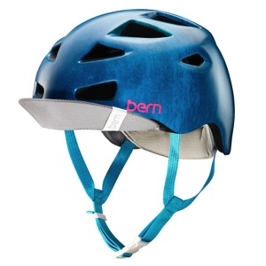 Bern Melrose Helmet 2016 - Satin Blue Acid Wash