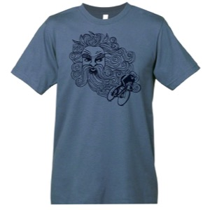Mechanical Threads Wind At Your Back T-Shirt - Blue