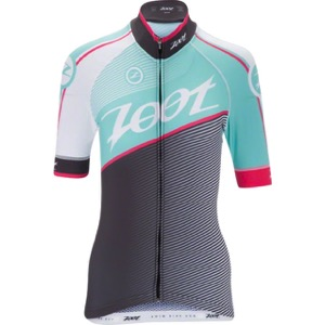 Zoot Cycle Team Jersey - Aquamarine Blue/Passion Fruit Pink