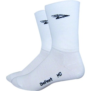 "DeFeet Aireator 5"" Double Cuff Socks - White"