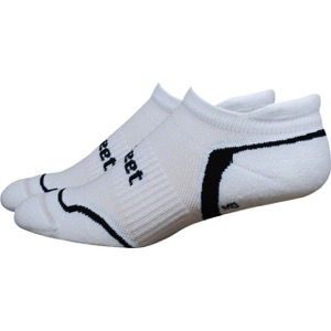 Defeet D-Evo Tabby Socks - White/Black