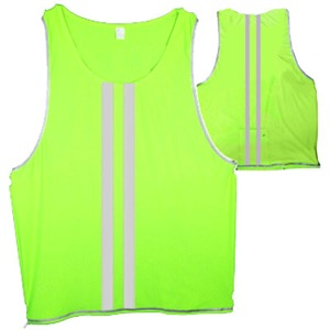 Cycle Aware Reflect+ Unisex Vest - Neon/Stripes