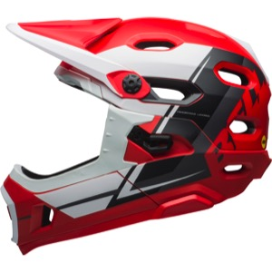 Bell Super DH MIPS Helmet 2018 - Matte Red/White/Black