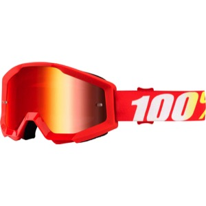 100% Strata Goggles - Furnace/Mirror Red Lens