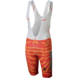 Salsa Team Kit Men's Bib Shorts 2018 - Orange Zebra