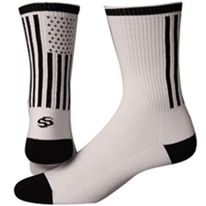 "Save Our Soles 6"" American Made Socks - White"