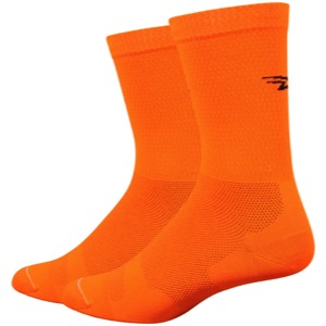"DeFeet Levitator Lite 6"" Socks - Hi-Vis Orange"
