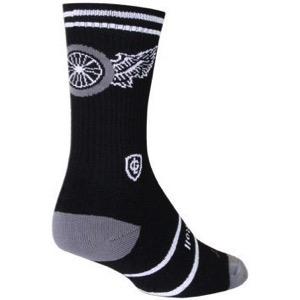 SockGuy Lutzka Crew Socks - Black/White/Gray
