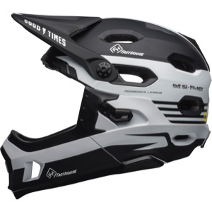 Bell Super DH MIPS Helmet 2019 - Fasthouse Stripes Matte Black/White