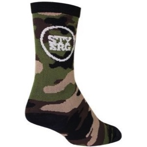 SockGuy Stay Strong Crew Socks - Camo