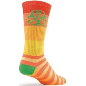 SockGuy Hazard Crew Socks - Orange/Yellow
