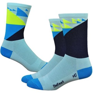 "DeFeet Aireator 6"" Barnstormer Galibier Sock - Blue"