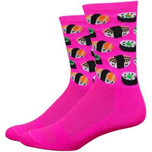 "DeFeet Aireator 6"" Sushi Socks - Pink"