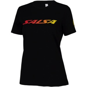 Salsa Block Fade Women's T-Shirt - Black