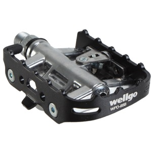 Wellgo WPD-95B Clipless One Sided Pedals PlatformTour Commuter fits Shimano SPD