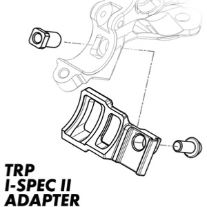 TRP Adapter Brems zu Schalthebel HD 3.6 I-Spec II zu SRAM Matchmaker links