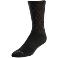 Pearl Izumi Merino Tall Socks 2020 - Forest/Flame Crossing