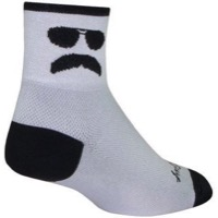 SockGuy Trooper Socks - White/Black