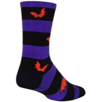 SockGuy Bats Crew Socks - Black/Purple