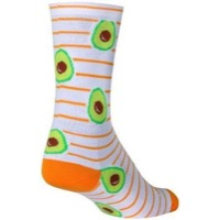 SockGuy Ripe Crew Socks - White/Green/Orange
