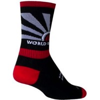 SockGuy World Bicycle Relief Crew Socks - Black/Red