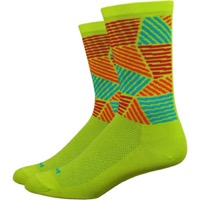 "DeFeet Aireator 6"" Craze Sock - Yellow"