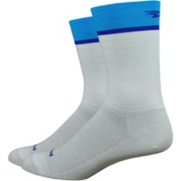 "DeFeet Aireator 6"" Team DeFeet Socks - White/Blue"