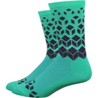 "DeFeet Aireator 6"" Barnstormer On The Rocks Socks - Celeste"