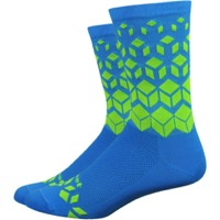 "DeFeet Aireator 6"" Barnstormer On The Rocks Socks - Blue"
