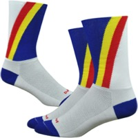 "DeFeet Aireator 6"" Barnstormer Team Panasonic Sock - White"