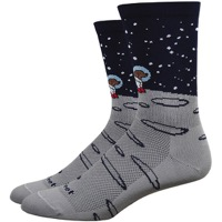 "DeFeet Aireator 6"" Moon Doggo Socks - Grey/Navy"