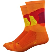 "DeFeet Aireator 6"" Ornot Bloom Socks - Orange"