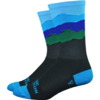 "DeFeet Aireator 6"" Skyline Appalachia Sock - Blue"