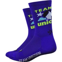 "DeFeet Aireator 6"" Team Unicorn Socks - Purple"