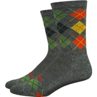 "DeFeet WoolEater 6"" Comp Argyle Socks - Green"