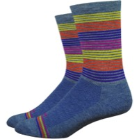 "DeFeet WoolEater 6"" Comp Business Time Socks - Blue"