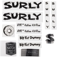 Surly Big Fat Dummy Frame Decal Set w/Headbadge