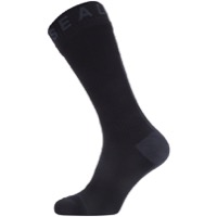 Seal Skinz All Weather Mid Hydrostop Socks - Black/Gray