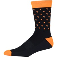 45NRTH Midweight Wool Socks - Black/Orange Triangles