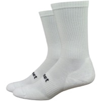 DeFeet D-Evo Cush Crew Socks - White