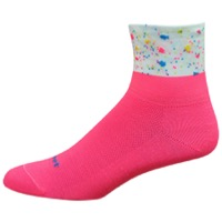 "DeFeet Aireator 3"" Pop Womens Socks - Pink/White"