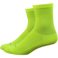 "DeFeet Aireator 4"" Womens Socks - Hi-Vis Yellow"