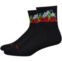 "DeFeet Aireator 3"" Bike Love Socks - Black"