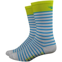 "DeFeet Aireator 6"" Sailor Sock - White/Sulpher/Blue"