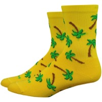 "DeFeet Aireator 4"" Palms Womens Socks - Yellow/Green"