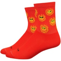 "DeFeet Aireator 4"" Sunny Womens Socks - Poinciana/Yellow"